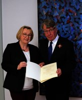 Prof. Dr. Gerhard Stickel was awarded the Federal Cross of Merit 1st Class