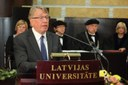University of Latvia awards Honorary Doctorate to  the President of EFNIL Gerhard Stickel